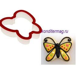 Формочка для печенья Бабочка 9х9 см. пластик 2
