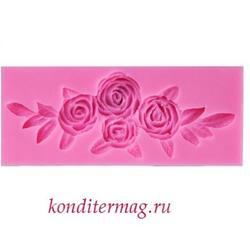 Молд силиконовый Букет роз 11,5х5 см. 1