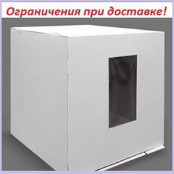 Коробка для торта 50х50х55 см. Бел/окно 3 ч. 1