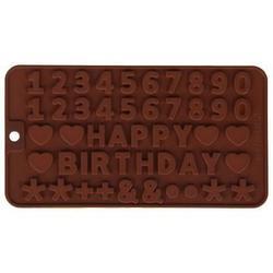 Форма силиконовая для шоколада Цифры и знаки 1