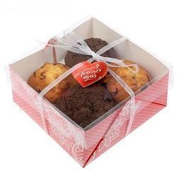 Упаковка для 4 капкейков Я тебя люблю Премиум 1