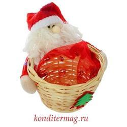 Конфетница декоративная Дед Мороз в колпачке 1