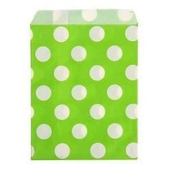 Пакет подарочный без ручек Горох зеленый 13х18 см. 10 шт. бумага 1