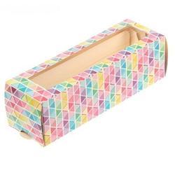 Упаковка для макарунс 18х5,5х5,5 см. Геометрия 1