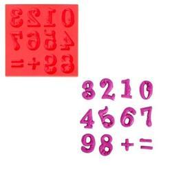 Молд силиконовый Цифры барокко 8х8 см. 1