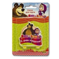Свеча для торта С ДР Маша и Медведь Затея 1