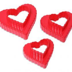 Формочка для пряников 2-стор. Сердце 3 шт. пластик Vela 1