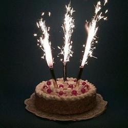 Фейерверк для торта Фонтан 20 см. 6 шт. Золото 2