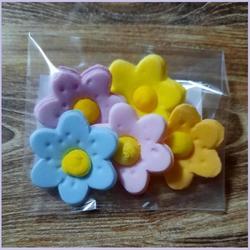 Украшение сахарное Цветочки 2 см. набор 5 шт. 1