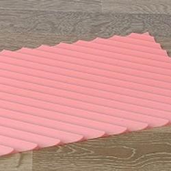 Коврик силиконовый рельефный Полосы 18х24 см. силикон 1