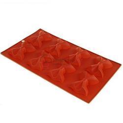 Форма для выпечки силиконовая Галстук-бабочка 8 ячеек 1
