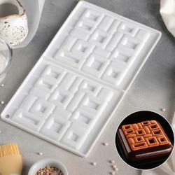 Форма для шоколада Квадро 30х17,5х1,5 см. 1