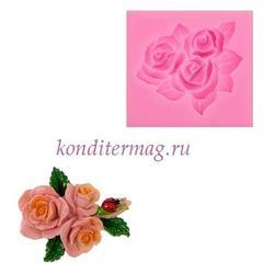 Молд силиконовый Букет роз 5,5х5 см. 1