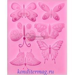 Молд силиконовый Бабочки ассорти 11х9 см. 1