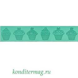 Коврик для кружев Капкейки 38,5х8 см. 1