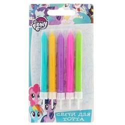 Свеча для торта цветные My Little Pony 5 шт. 1