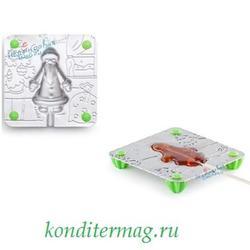 Набор для леденцов Дед Мороз 9х9 см. + палочки ЛФ 1