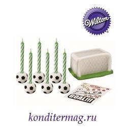Свеча для торта Футбол набор 18 предметов Вилтон 1