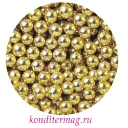 Шарики сахарные золото/серебро 8 мм. 50 г. Ambrosio 1