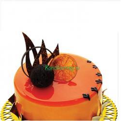 Гель для покрытия Апельсин перламутровый Топ-гель 250 г. 1