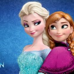Вафельная картинка Эльза и Анна 1