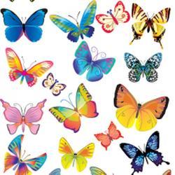 Вафельная картинка Бабочки 2 1