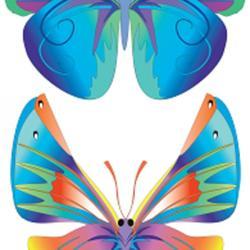 Вафельная картинка Бабочки 2 шт. 1