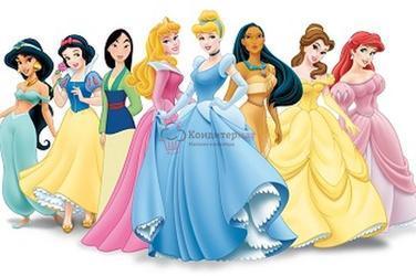 Вафельная картинка Принцессы Диснея 1
