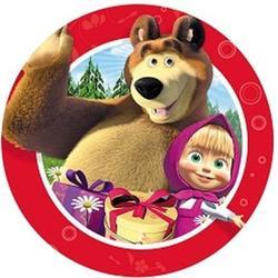 Вафельная картинка Маша и медведь 1