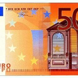 Вафельная картинка Евро (50 €) 1 шт. 2