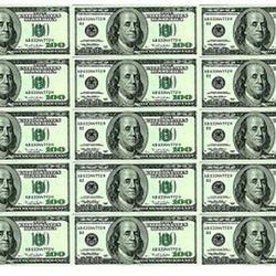 Вафельная картинка Доллары 15 шт. (по 100 $) 1