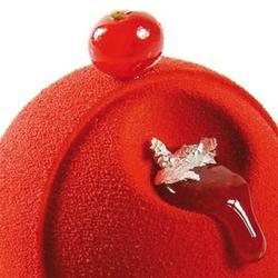 Аэрозоль шоколадный велюр Дольче Велюто красный 150 мл. 1