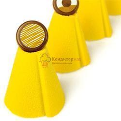 Аэрозоль шоколадный велюр Дольче Велюто желтый 150 мл. 1