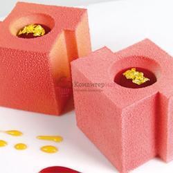 Аэрозоль шоколадный велюр Дольче Велюто розовый 250 г. 1