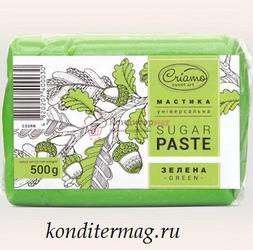 Мастика сахарная универсальная Криамо зеленая 500 г. 1