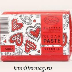 Мастика сахарная Криамо красная 500 г. 1