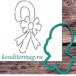 Формочка для печенья и трафарет кондитерские Леденец 11,5 х 6 см. 1
