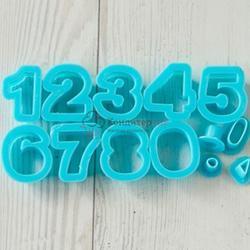 Формочка для печенья Цифры 3 см. набор 13 шт. 1