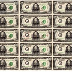 Вафельная картинка Доллары 15 шт. 1