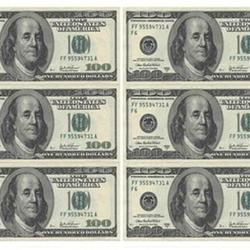 Вафельная картинка Доллары 6 шт. 1