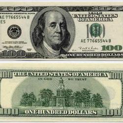Вафельная картинка Доллары 2 шт. (100 $) 1