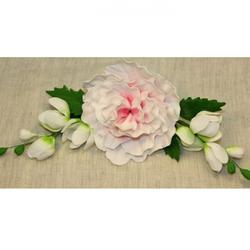 Украшение сахарное Букет Пион розовый 25 см. 1