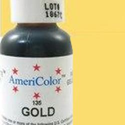 Краска гелевая Желтое золото Gold AmeriColor 21 г. 2