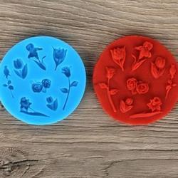 Молд силиконовый Розочки тюльпаны 1