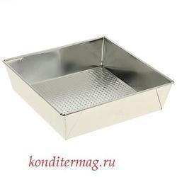 Форма для выпечки Квадрат 24х6 см. жесть 1