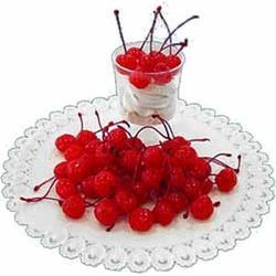 Черешня коктейль красная с веточкой в сиропе 750 г. 2