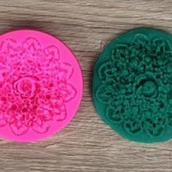 Молд силиконовый Большая роза 7 см. 1