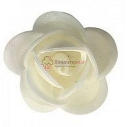 Вафельные Розы белые 3,5 см. сложные 5 шт. 1