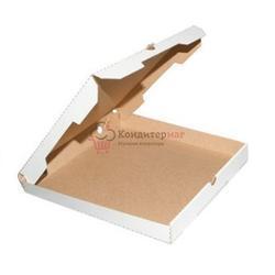 Коробка для пиццы 30х30х4 см. бел/бур 1