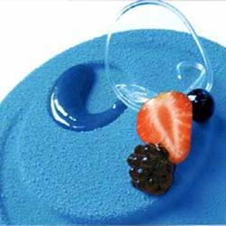 Аэрозоль шоколадный велюр Дольче Велюто голубой 250 г. 1